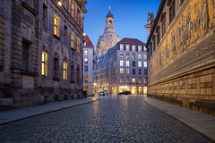 Dresden. (Rudi1976) Tags: dresden germany cityscape saxony europe frauenkirche westerneurope dusk sky church cathedral urbanskyline buildingexterior street twilight oldtown history landmark famousplace traveldestinations city outdoors architecture tourism travel nopeople downtown facade town historic