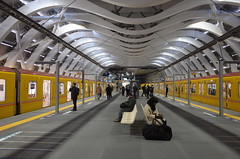 New Shibuya Subway Station (seiji2012) Tags: japan tokyo shibuya station platform subway 東京メトロ 地下鉄 銀座線 渋谷駅 happyplanet asiafavorites