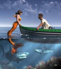 mermaid 39 (Michael Vance1) Tags: mermaid siren ocean sailor man boat fish woman myth mythology