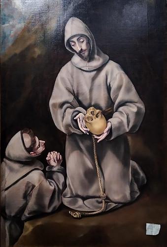 San Francisco de Asís en meditación (1600-1614). El Greco y taller. Biblioteca Museu Víctor Balaguer