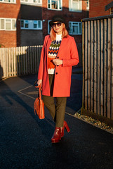 Bringing Back the Bowler Hat and a Modern Nordic Sweater | Not Dressed As Lamb, Style for Over 40 Women (Not Dressed As Lamb) Tags: autumn winter bowler hat colourful colorful brights fashion style ootd outfit blogger nordic sweater