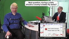 During a crisis, should a country's leader fly home? (Cui Bono) Tags: boris johnson bojo boorish conservative party tory prime minister great britain united kingdom lie detector means test liar lies lying dishonest fib bullshit fake news iran missile crisis attack world war 3 iii three coward mustique holiday island