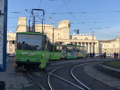 Tatra T5B6 (Кевін Бієтри‎) Tags: tram front dnipro train station ukraine dnipropetrovsk dniprotrainstation kevinbiétry spotterbietry iphonex bus cablecar vehicle street city road car railway track locomotive driving urban metropolis traffic landvehicle green person transport outdoor transportationsystem transportation modeoftransport streetcar