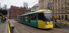 UK - Manchester tram (onewayticket) Tags: tram transport urban metrolink bombardier m5000 bombardierm5000 alloverlivery