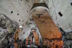 138 (flallier) Tags: carrière souterraine gypse underground gypsum quarry plâtrière plâtre consolidations arcs galerie tunnel silhouette