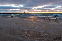 Closing Out Monday (SueFi Photography) Tags: frankfort sunset beach waves lakemichigan upnorth vibrant