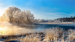 Frosty January Morning (soupie1441) Tags: winter scene upper thames river water blue london ontario canada landscape nikon panorama d750 tamron 2470mm