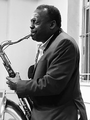Jazzman David Murray (Professor Bop) Tags: davidmurray jazz music jazzismyreligion blackandwhite monochrome monochromatic bw saxophone portrait professorbop drjazz tribute memorial stmarkschurchonthebowery iphone8 mosca