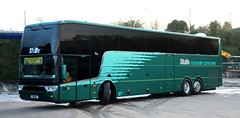 Skills Coaches, Nottingham Van Hool Altano N1 SMC being prepared at Bulwell depot for duties with 'The Nottingham Panthers' Ice Hockey Club. (Gobbiner) Tags: skillscoaches n1smc altano nottingham vanhool tdx21 yd14gdu thenottinghampanthers ellisons 3wsm
