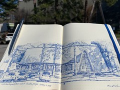 North Decatur Presbyterian  Decatur, Georgia (schunky_monkey) Tags: fountainpen penandink ink pen pleinair journal drawing draw sketchbook sketching sketch illustration art building architecture religion georgia decatur church northdecaturpresbyterianchurch