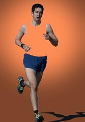Orange Shirt (Scott 97006) Tags: man guy male runner running shirtless cutout stride