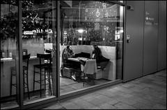 Always a good idea (GColoPhotographer) Tags: streetphotography milano bianconero street woman blackandwhite reflection citylife cafe bw bar