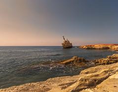 _0429 (ronniefleming@btinternet.com) Tags: edro111 freetown plasterboard shipwreck cyprus mediterranean bluewaters rocks waves ph31fy ronniefleming paphos limassol coralbay