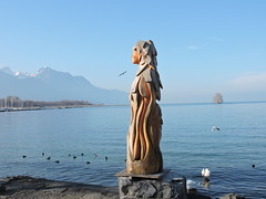 01: 21 January 2020 (keepps) Tags: switzerland suisse schweiz vaud winter lacléman art wood bois sculpture 365photos