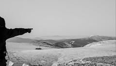 there! (n_kot) Tags: karpacz landscape bw czb czarnobiałe krajobraz trekking winter wycieczka zima śnieżka śnieg