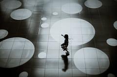 Skip (reiko_robinami) Tags: streetphotography silhouette shadow urban pattern monochrome blackandwhite oneperson yokohama japan