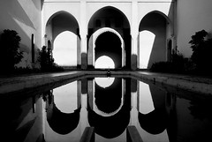 Alcazaba (only lines) Tags: alcazaba malaga spain reflection arches architecture pool
