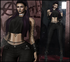 I'm Some kind of Disaster (Ginger Krokus) Tags: gingerkrokus gingersnaps secondlife sl asteroidbox slink hg hourglass stealthic legalinsanity miu enchante vegastattoo cx cerberusxing stun stunposes pose poses kustom9 vanity swallow body lelutka hair jeans pants top new release event avatar mesh clothing styling outfit fashion rock chick grunge bento punk photo photography photographer blog blogger secondlifeblogger virtual virtualworld girl female woman sexy