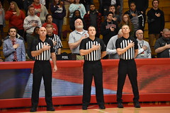 NATIONAL ANTHEM (SneakinDeacon) Tags: radfordhighlanders winthrop eagles bigsouth basketball dedmoncenter referee sportsofficials