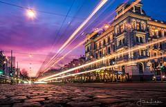 Limitless (Fredrik Lindedal) Tags: avenyn gothenburg göteborg glow streetview street streetvision streetlight streetsvision city cityscape cityview clouds sunset longexpo longexposure sweden sverige sky skyline sunlight colors lindedal