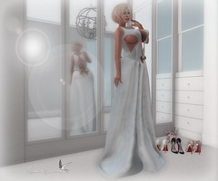 WHICH SHOES TO WEAR (Rachel Swallows Inworld Elenamicheals Core) Tags: blogger fashion foxcity free gift gown group masoom present secondlife velvet