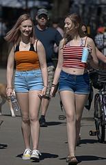 Happy Days (Scott 97006) Tags: girls ladies woman females walking shorts cute pretty sunshine happy