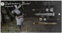 ^AH^ Imperator's Sword Gift (Ars Hokori) Tags: gladius sword roman rome warrior knight emperor general imeprator legion rp roleplay arshokori ah 3d art graphicdesign design silver gold steel viking medieval fantasy
