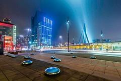 Fog in the city (Ellen van den Doel) Tags: rotterdam city januari workshop night cursus skyline mist outdoor 2019 fotografie stad cityscape evening photography lights fog