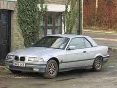 BMW 320i Cabriolet N148AKK (Andrew 2.8i) Tags: carspotting spotting street car cars streetspotting united kingdom wales classic classics german 3series e36 open cabriolet convertible 320 320i bmw