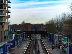 The Shard from Kidbrooke Station (London Less Travelled) Tags: uk unitedkingdom britain england london southlondon city urban suburban suburb suburbs suburbia shard greenwich rail railway station tunnel platform