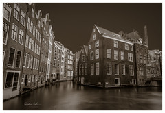 Old Amsterdam (Oguzhan Amsterdam) Tags: old amsterdam city centre red light district wallen netherlands houses architecture dutch oguzhan ceyhan photography long exposure longexposure monochrome vintage brown urban outdoor