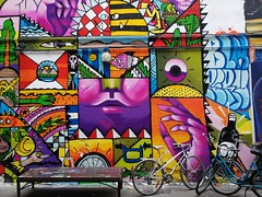 This vibrant city of mine (langkawi) Tags: streetart streetartalley hackeschermarkt hausschwarzenberg rosenthalerstrase kunst bunt colorful colors mural bicycles nonprofit art backyard alley 3amigos peruvian artists urbanart camilogutierrez seimiek dannyfigueroaakawesr