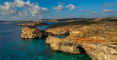 Crystal Lagoon and Blue Lagoon. (Ian Emerson (Thanks for all the comments and faves) Tags: seascape coastline coast comino malta bluelagoon crystallagoon caves sea blue january landscape canon6d canon mediterraneansea
