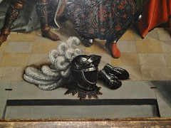ca. 1510-1515 - 'St. Martin knighted by emperor Constantine' (Bernard van Orley), Brussels, The Nelson-Atkins Museum of Art, Kansas City, USA (roelipilami (Roel Renmans)) Tags: barend bernard van orley brussels brussel bruxelles brabant painting renaissance 1510 1514 1515 st martin martinus emperor constantine feathers armet collar mail standard sayon surcoat kansas city usa knighted bozar flemish allantica armor armour armure harnas ostrich rüstung nelson atkins museum art gauntlet panel altarpiece retabel almete армет northern bruselas beret fashion tours saint roman constantijn empereur keizer constantin 16th century flamand wolf tooth teeth wolfzähne wolfs