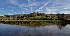 BEND IN THE RIVER (chris .p) Tags: tintern wales sky nikon d610 view capture water walk southwales wye winter 2020 landscape january river church riverwye trees fields