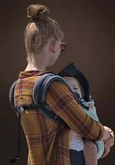 Que Sera Sera (Scott 97006) Tags: mother woman female lady blonde child infant kid carry