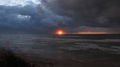 Winter (2007Plumeriya) Tags: sea sunset waves clouds landscape colorfulnature