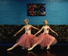 Two Young Ballet Dancers Pose For The Camera (Chic Bee) Tags: arizonaballettheatre impromptu studiophotograph tucson arizona balletschool youngdancers posing costumes ballet theatre ballerina balletdancers posingforperformanceposter posterartwork