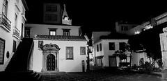 alone in the evening (christikren) Tags: blackwhite bw building christikren candid noiretblanc place funchal madeira historiccenteroffuchal europe portugal capela capeladesantoantónio travel