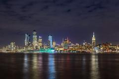 Midtown skyline at night (aurlien.leroch) Tags: midtown skyline night manhattan newyorkcity usa newyork nyc empirestatebuilding timessquare hudsonyards nikon cityscape longexposure