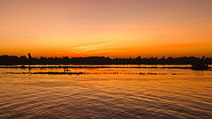 Fishing the Nile at Sunset (Herculeus.) Tags: clouds 2019 sunset sun reflection river landscape outside outdoors evening outdoor dec nileriver shipsboats nilecruise nikond600 water egypt 5photosaday silhouette
