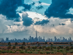 Down Town Dubai (|MBS-..|) Tags: nikon d4 180mm f28 architectural architecture landscape clouds cloud road street streetphotography blue sky