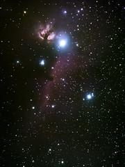 The Horsehead Nebula (Eifeltopia) Tags: orioncomplex sternbild orion pferdekopfnebel emissionsnebel ic434 dunkelwolke orionis horseheadnebula flamenebula constellation deepsky astrophotography oriongürtel orionsbelt gürtelsterne alnitak alnilum flammennebel interstellar wolke barnard33 ngc2024 darknebula sky night backyard südeifel speicher eifel vixenpolarie tracked nachgeführt amateur astrofotografie astronomy nebulae northernhemisphere