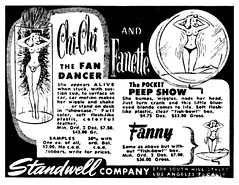 chi chi and fanette (Al Q) Tags: chi fanette fannie fan dancer pocket peep show girlie nudie animated standwell company