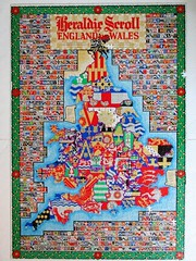 Heraldic Scroll of England and Wales (pefkosmad) Tags: jigsaw puzzle hobby leisure pastime 2000pieces secondhand used missingpieces incomplete heraldry scroll map englandandwales england wales arms surnames names mullinsoflondon dickkelly heraldicscrollofenglandandwales