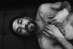 Elias # 14 (just.Luc) Tags: man male homme hombre uomo mann hairy chesthair borsthaar poilu behaard portret portrait ritratto retrato porträt face gezicht visage gesicht baard barbe barba bart beard handsome sexy hot attractive hands mains handen hände