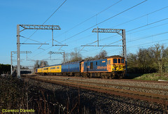 73962 Oakley 20th January 2020 (Lorenzo's Modern Traction) Tags: 73962 73965 eds 1q51 derby rtc eastleigh works oakley mml