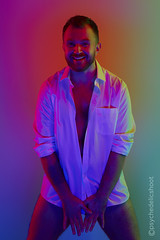 Lukasz - from the #psychedelicshoot series (Psychedelicshoot) Tags: whiteshirtbusinessshirt badger bear beard beardedmen cub fineart fur hairy handsome hotmen lgbt maleportrait masculine otter physique pogonophile psychedelic saturated scruff technicolour thebeardedway visualart gingerbeard wolf