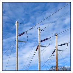 Trio (Timothy Valentine) Tags: telegraphtuesday large line sky 0120 2020 pole abington massachusetts unitedstatesofamerica iphone3651