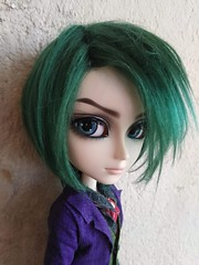 Joker - handmade wool wig (Lunalila1) Tags: doll groove taeyang albireo joker outfit clothes lunalilaclothes handmade suit wool wig green costura hans liebermann pennywisetown